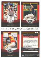 2011 Topps Triple Threads (#ed/1500) Baseball Set ** Pick Your Team **