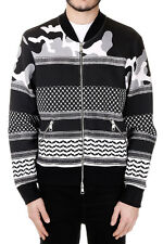 NEIL BARRETT Man Patterned Sweatshirt with Zip Original and New with tags
