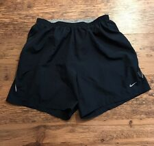 Nike Running Fit Dry Men's Athletic  Lined Shorts Large Navy Blue Reflective