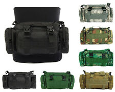 Tactical Military Molle Utility 3 Ways Waist Pouch Shoulder Hand Bag 6 Colors