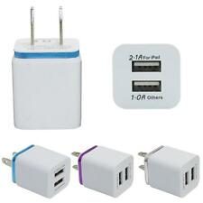 Home Travel Dual Port AC USB Wall Charger Adapter For iPhone For Samsung Galaxy