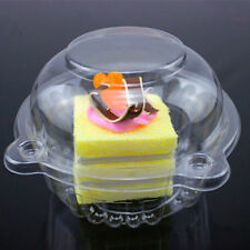10-100 Large Cupcake Holder Clear Plastic Single Muffin Case Box Pods Individual