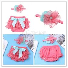 Newborn Baby Girl Bloomer Diaper Costume Photo Photography Prop Headband Outfits