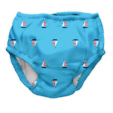 i play Baby- Boys 3-6 Months-Ultimate Ruffle Reusable Swim Diaper (2 for 1)