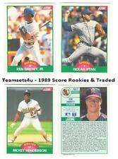 1989 Score Rookies and Traded Baseball Set ** Pick Your Team **