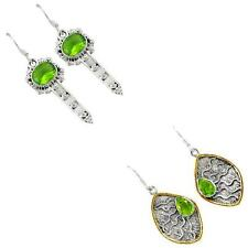 925 sterling silver peridot quartz earrings jewelry by jewelexi 1328B