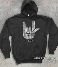 SWEATSHIRT UNISEX horns HEAVY metal hard rock Black Sabbath Heaven and Hell