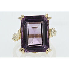 15.5 mm Amethyst Cocktail Ring in 14k Yellow Gold