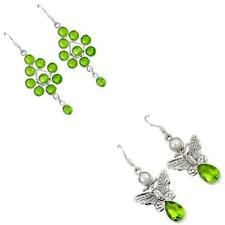 925 sterling silver peridot quartz earrings jewelry by jewelexi 3499B