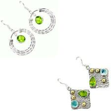 Jewelexi peridot quartz 925 sterling silver earrings handmade jewelry 3566B