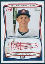 2010 TOPPS TEAM USA 16U RED INK AUTO AUTOGRAPH ALBERT ALMORA ROOKIE 06/99