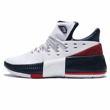 adidas Dame 3 J Damian Lillard Navy Red White Kids Basketball Shoes BW1101