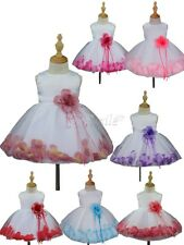 Baby Girl Floral Dress Kid Party Wedding Pageant Formal Prom Gown Bridesmaid
