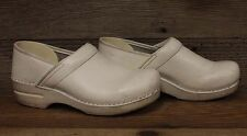 Dansko Womens White Leather Professional Clogs/Mules/Shoes sz Eu40