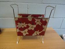 60s 70s RETRO VINTAGE METAL MAGAZINE RACK Holder, Stand