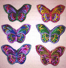 Lovely Butterfly Embroidered Applique Sew On Patch on Black Background