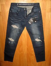 VERSACE ITALIA 1969 MENS DISTRESSED JEANS  SIZE 34 X 32 NWT $118