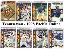 1998 Pacific Online Baseball Team Sets ** Pick Your Team Set **