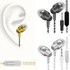 3.5mm InEar Earphones Bass Stereo Headphones Headset Earbuds With Mic For Iphone