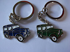 Landrover Keyrings Blue or Green colours. Land Rover