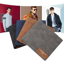 New Men's PU Leather Credit Card Holder Wallet Pocket Cash Coin ID Card Bifold