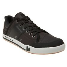 New Mens Merrell Black Rant Textile Trainers Lace Up