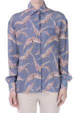 VALENTINO New woman Blue Printed Silk blouse Made in Italy NWT