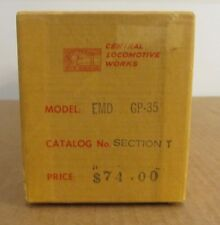 Central Locomotive Works O Scale EMD GP-35 Miscellaneous Brass Parts