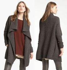 VINCE Honeycomb knit wool/yak wool cardigan sweater jacket in Gray sz M, L $395