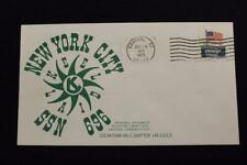 NAVAL COVER 1973 MACHINE CANCEL KEEL LAYING USS NEW YORK CITY (SSN-696) (4518)