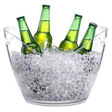 4L/8L Clear Ice Bucket Champagne Wine Drinks Cooling Beer Ice Cooler Bar