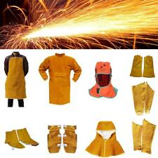 Welding Apron Helmet Protection Neck Hood Gloves Sleeves Shoes Feet Cover