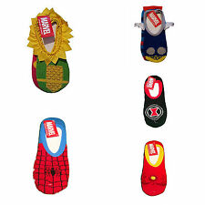 Marvel Womens 2 Pair Cozy Slipper Socks Iron Man Spiderman Black Widow Thor Loki