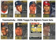 2006 Topps Co-Signers Baseball Set ** Pick Your Team **