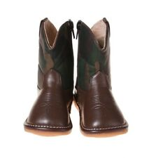 Boy's Camo Toddler Squeaky Cowboy Boots Sizes 1 to 7 w/FREE Stoppers