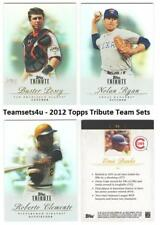 2012 Topps Tribute Baseball Set ** Pick Your Team **