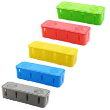 Rectangle Shape Tidy Wires Power Cable Plastic Storage Organizer Box Case