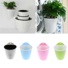 Garden Self-watering Plant Flower Pot Home Wall Hanging Planter Holder 4 Colors