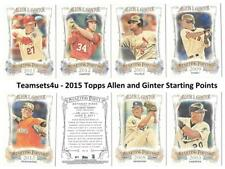 2015 Topps Allen and Ginter Starting Points Baseball Set ** Pick Your Team **