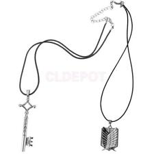 Attack on Titan Necklace or Keychain Anime Cosplay Silver Necklace Figure