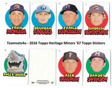 2016 Topps Heritage Minors 1967 Topps Stickers Baseball Set ** Pick Your Team **