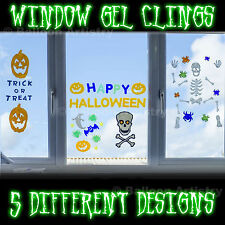 Happy Halloween Gel Clings Sign Easy To Use Window Mirror Decorations