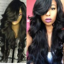 Silky Softness Brazilian Virgin Human Hair Lace Front Wig Body Wavy With Bangs
