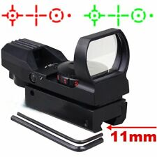 Holographic 4 Reticle Red / Green Dot Tactical Reflex Sight Scope Mount 11 /20mm