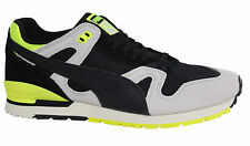 Puma Duplex OG Black Grey Yellow Lace Up Mens Leather Trainers 361905 04 P5