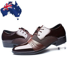 Mens Dress Formal Oxfords Leather Shoes Business Casual Pointed Toe Shoes AU