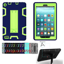 """Shockproof Heavy Duty Silicone PC Case Cover For Amazon Kindle Fire 7"""" 2017+Film"""