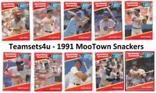 1991 MooTown Snackers Baseball Set ** Pick Your Team **