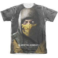 Mortal Kombat X Finish Him (Front Back Print) Mens Sublimation Poly Cotton Shirt