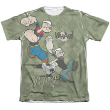 Popeye Argyle Punch Mens Sublimation Poly Cotton Shirt